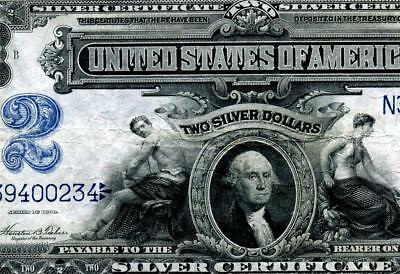 HGR SATURDAY 1899 $2 Silver Certificate ((Highly WANTED)) AWESOME GRADE