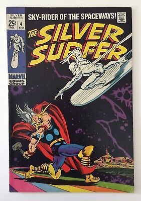 SILVER SURFER #4 Classic Thor vs Silver Surfer Cover ***NICE BOOK!!!***