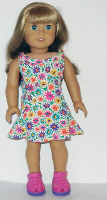 Floral Sleeveless Dress  Fits 18 inch American Girl  Dolls