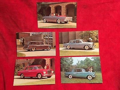 1962 Studebaker Advertising Postcards - Lot of 5 different cars