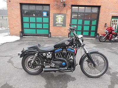 2002 Harley-Davidson Sportster  2002 HARLEY DAVIDSON XL 883 SPORTSTER RAT BIKE BOBBER  MODIFIED RUNS GREAT KOOL