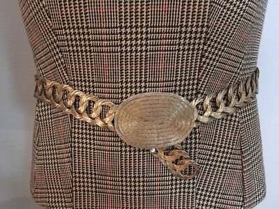 Handmade Gold Tone Woven Wire  Belt Made in Greece