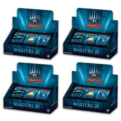 PREORDER Magic The Gathering MTG Masters 25 Booster Box Display 4 Booster Boxes