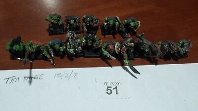 Warhammer Fantasy Age of Sigmar 15 x Plastic Orcs with Hand Weapon and Shield