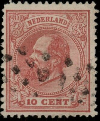 1872 Netherlands Sc#25 Used Cv$ *free Shipping*