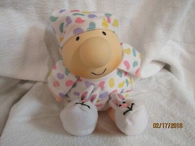 Ziggy Easter Jelly Bean PJ's with bunny slippers Plush Doll w/o hangtag 1994