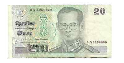 Bank of Thailand 2002 ND Issue 20 Baht Pick #109 King Rama IX