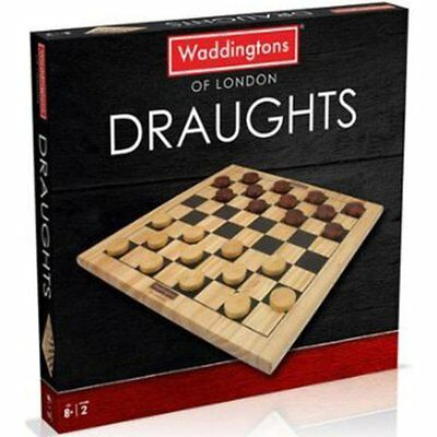 Waddingtons of London Wooden Games Draughts Board Game