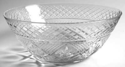 Cris D'arques Durand ANTIQUE CLEAR (6-SIDED STEM) Salad Bowl 90483