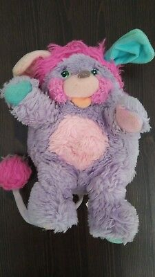 POPPLE Vintage 1980s Stuffed Toy Plush PURPLE and PINK Small GUC
