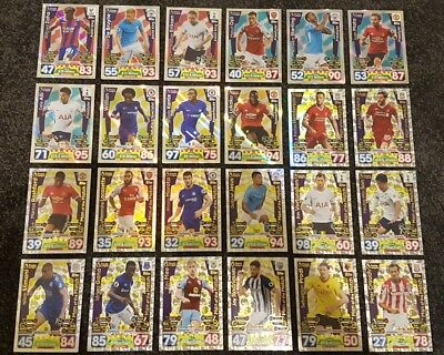 PRICE DROP - 2017/18 Match Attax EPL - Man of the Match / Skill Cards from $1!