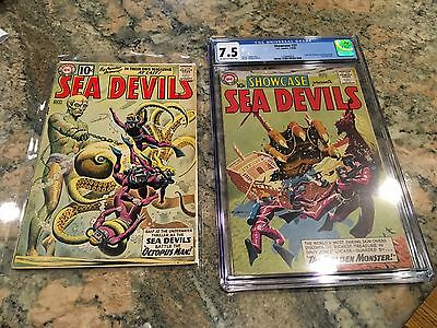 Showcase 27 + ISSUE 1 1st Sea Devils! CGC 7.5 VF- 1960 BOTH ISSUES FOR 1 PRICE
