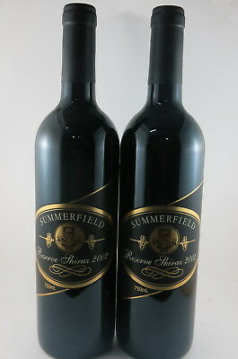 2 x Summerfield Moonambel Reserve Shiraz 2002, Rated 95/100 By Halliday