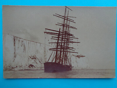 Pruessen  Aground Off Dover Early Real Photo Postcard