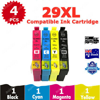 4X Generic 29 29XL T29 XL T2991XL Ink Cartridge For Epson XP 235 332 335 432 435