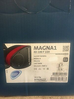 Grundfos Magna1 40-100F 220mm Single Head Flanged  Cast-Iron C Pump