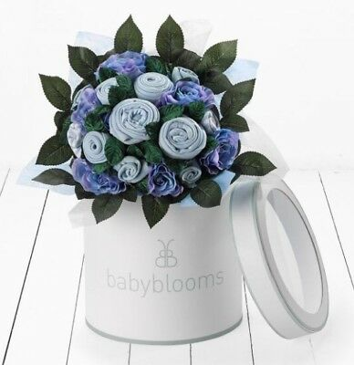 Babyblooms Bouquet, New Baby clothes Hamper, Baby Gift, Present, Boys 0-6 Months