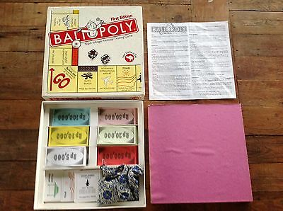 BALIOPOLY BALI BALINESE MONOPOLY RARE and In VGC Metal And Wooden Pieces