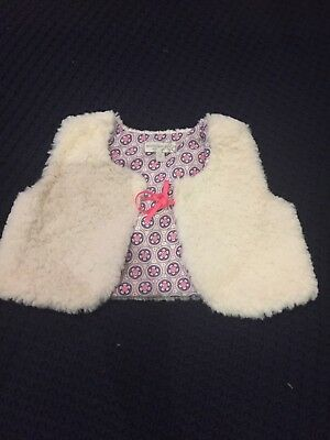 Marie Claire Baby Girl Cream Vest Size 0