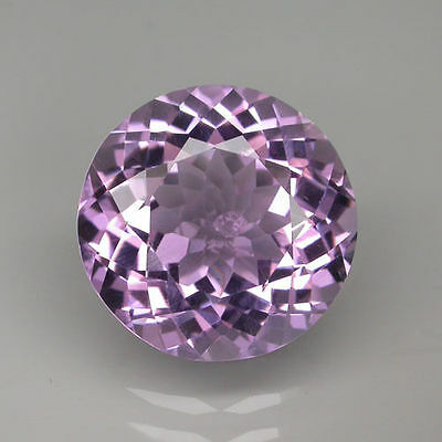 A PAIR OF 5mm ROUND-FACET LIGHT-PURPLE NATURAL BRAZILIAN AMETHYST GEMSTONES