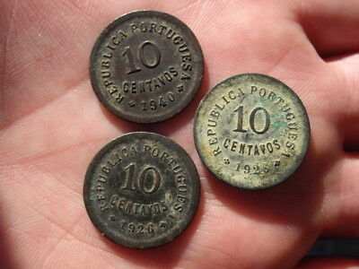 Lot 3 coins Portugal