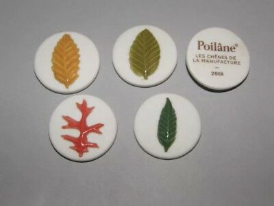 4 FEVES POILANE 2018 SERIE COMPLETE Chênes Feuilles