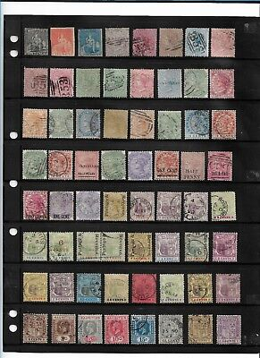 Mauritius QV-GV Collection 64 Stamps, Overprints