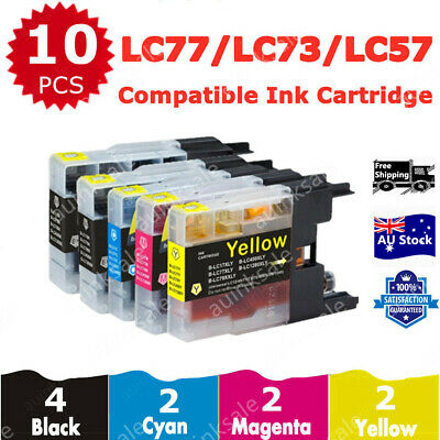 10x Ink Cartridge LC40 LC77 LC73 LC 77 XL For Brother MFC J430W J432W J625DW DCP