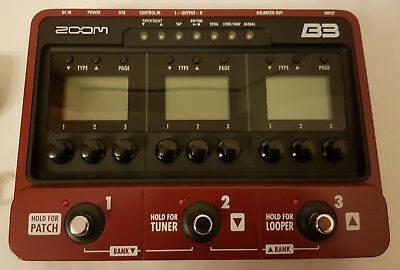 Zoom B3 - Bass Multieffekt, Amp-Simulator und Looper