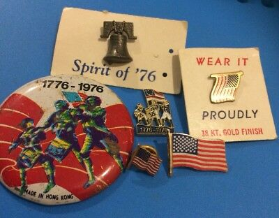 American 1776 - 1976 Badges And Pins