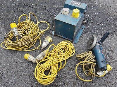 Transformer 110v with 2 bosch Grinders and Extension Leads
