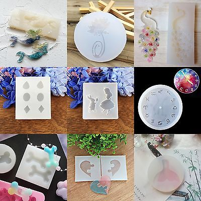 DIY Silicone Jewelry Crystal Pendant Making Mould Resin Necklace Hand Cra Dlxy