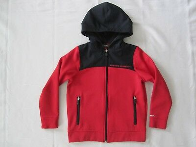 Under Armour STORM Full Zip Hoodie Jacket Red Black Youth Small