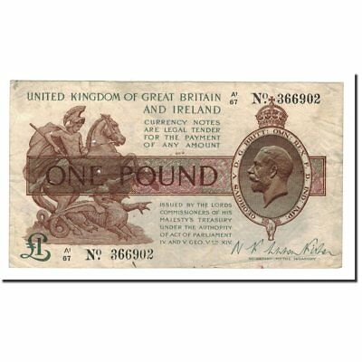 [#562753] Banknote, Great Britain, 1 Pound, Undated (1917), 1917-02, KM:351
