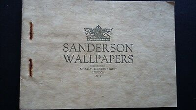 Wallpaper 1920's Art-Deco Style Sanderson Sample Book Original Antique Swatches