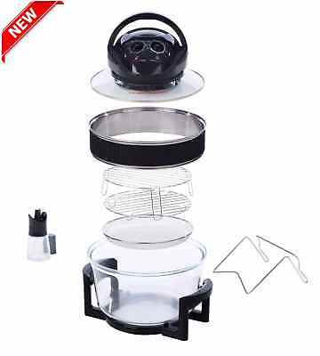 NEW XTRA LARGE Convection Halogen Oven Digital Cooker Rack XL Holder Air Fryer