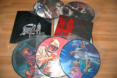 DEATH 5 x VINYL LP Picture BOX + Poster  *MINT*  Massacre Deicide Century Media