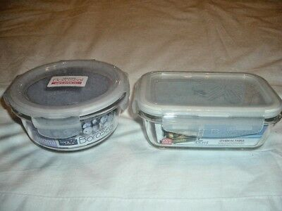Lock&lockmicrowave Or Oven To Table,2 Specialist Dishes Fish,veg, Rice Ect (New)