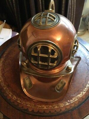 Ornamental Divers Helmet In Copper And Brass