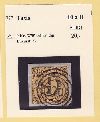 ## AD Thurn & Taxis MiNr 10 a II Bfst. , Stempel 270 COBURG , ideal , LUXUS ##