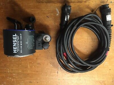 Hensel EH-Pro Mini 1200 P Flash Head with 5m Flash Head Extension Cable