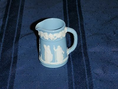 Wedgwood of Etruria and Barlaston Queens Ware Lavender Embossed Miniature Jug
