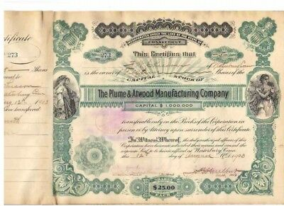 Plume & Atwood Manufacturing Company  1903