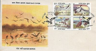 1994 India Birds Waterfowl Withdrawn Issue On Pristine Fdc - Scarce And Superb