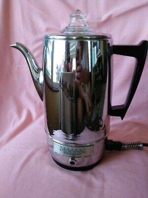 Vintage Corona Electric 3-9 Cup Immersible Coffee Percolator