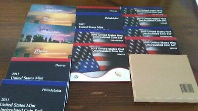 2009-2016 US MINT UNCIRCULATED COIN SETS 8 total