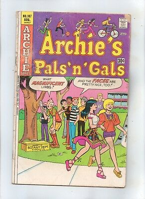 ARCHIE'S PALS 'N' GALS No 107 with BETTY, VERONICA, REGGIE and JUGHEAD