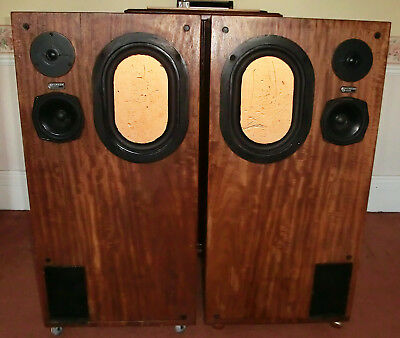 SUPERB KEF BAILEY Transmission Line Hi-fi Speakers