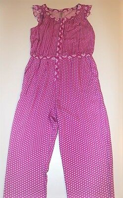 New! Pink Print Cherokee Romper girls size Large 10-12 New With Tags!