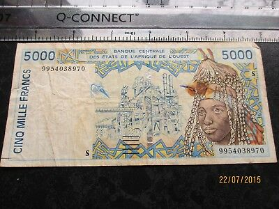 banknotes West African States, 5000 Francs,